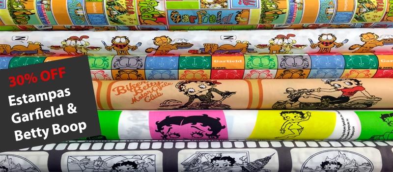 Banner Garfield e Betty Boop