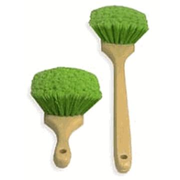 Escova para Limpeza de Rodas e Pneus com Cerdas verdes - Pequena