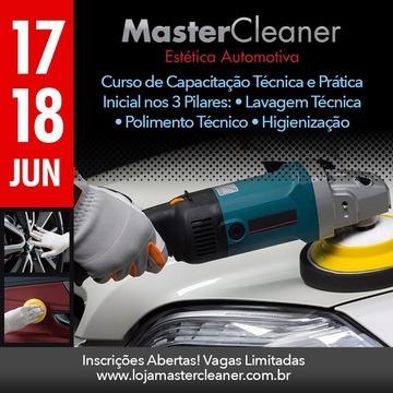 Curso MasterCleaner Estética Automotiva - Turma dias 17 e 18 de Junho