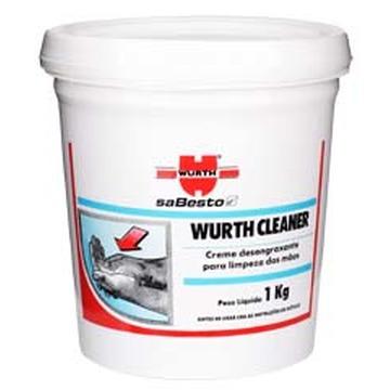 Wurth Cleaner - Creme desengraxante para limpeza de sujidades pesadas sem enxágue - 1Kg